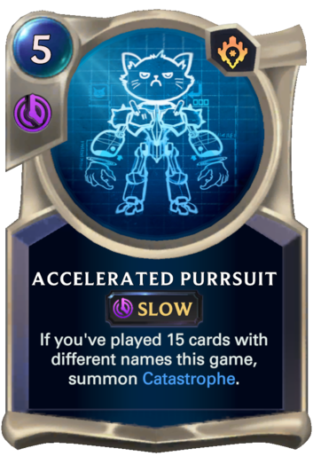 Accelerated Purrsuit Card