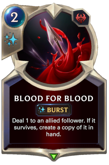Blood for Blood Card