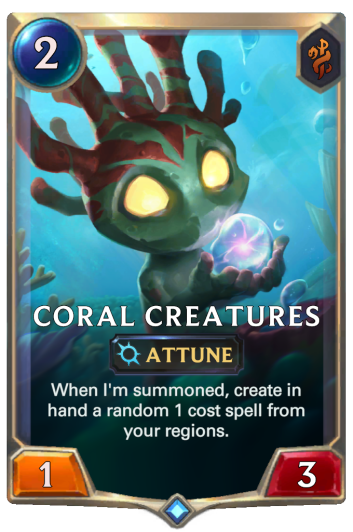 Coral Creatures Card
