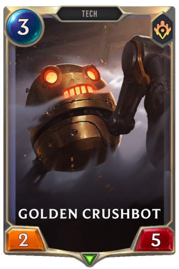 Golden Crushbot Card