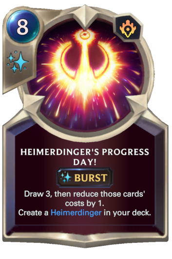 Heimerdinger's Progress Day!