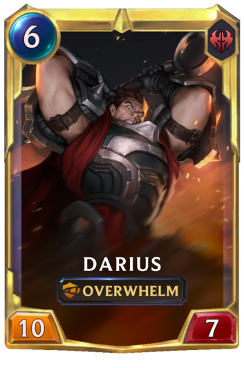 Leveled Darius Card
