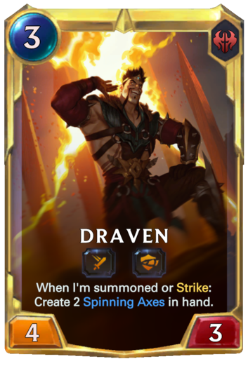 Leveled Draven Card
