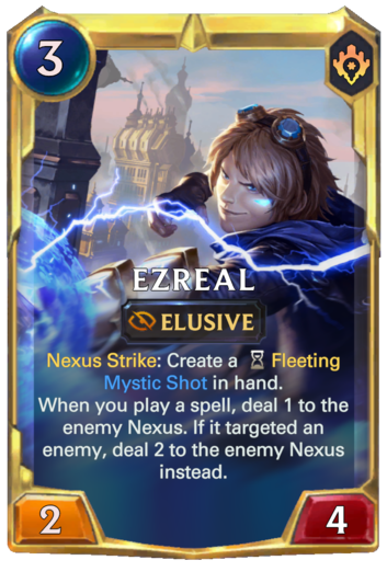 Leveled Ezreal Card