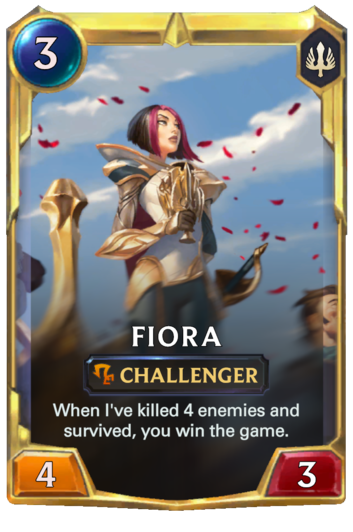 Leveled Fiora Card