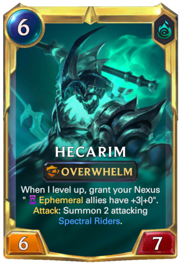 Leveled Hecarim Card