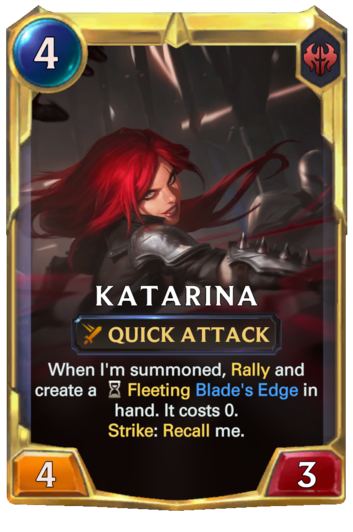 Leveled Katarina Card