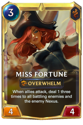 Leveled Miss Fortune Card