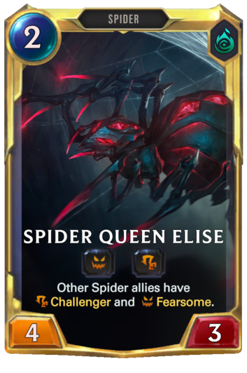 Leveled Spider Queen Elise Card