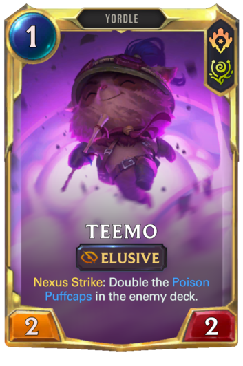 Leveled Teemo Card