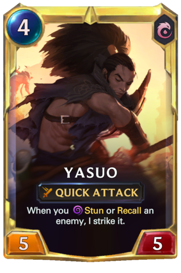 Leveled Yasuo Card