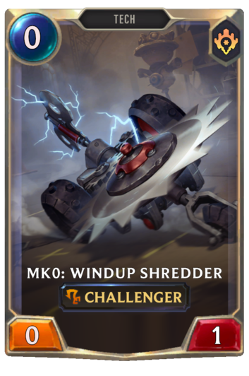 Mk0: Windup Shredder Card