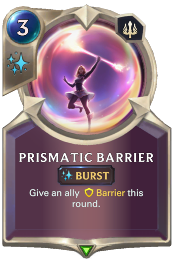 Prismatic Barrier