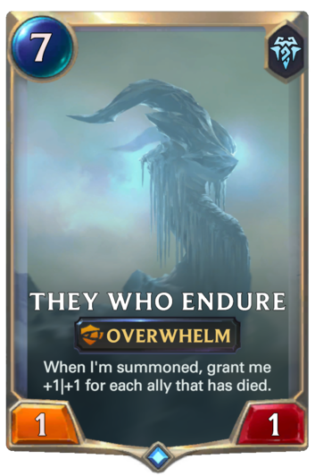They Who Endure Card